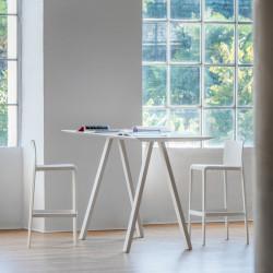 Bureau haut design Arki, Pedrali blanc 200x79cm