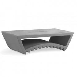 Base pour chaise longue Tac, Slide Design gris argile