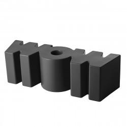 Banc Wow, Slide Design noir Mat