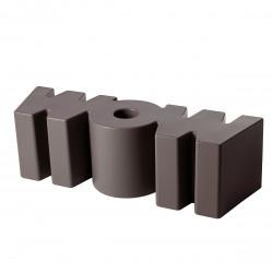 Banc Wow, Slide Design marron Mat