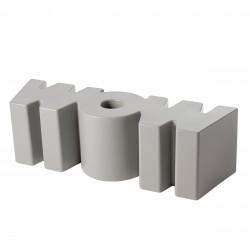 Banc Wow, Slide Design gris clair Mat