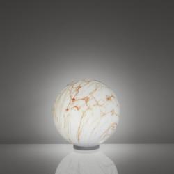 Lampe ronde Mineral, Slide Design marbré rouge, Diamètre 30 cm