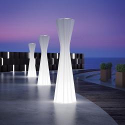 Lampadaire Frozen, Plust blanc extérieur 180cm