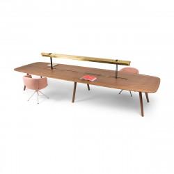 Bureau Bench Wing 4 places, True Design Noyer