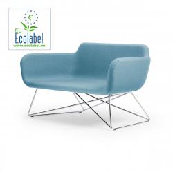 Canapé Slight 2 places, True Design, bleu clair
