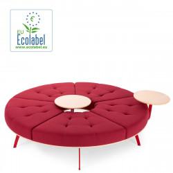 Banquette ronde Millepiedi True design, bordeaux, diamètre 156 cm