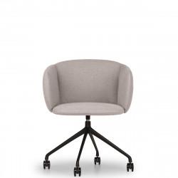 Fauteuil design pivotant Not, True design gris clair