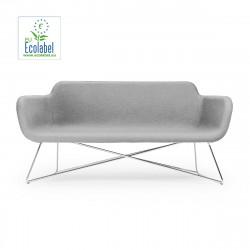 Canapé Slight 2 places, True Design, gris clair