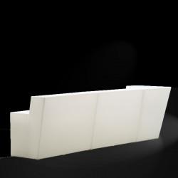 Bar central Oblique, Pedrali Lumineux blanc