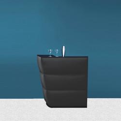 Elément d\'angle bar Oblique soft, Pedrali Anthracite