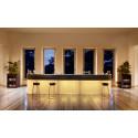 Bar Cordiale lumineux, édition Art Déco, module droit, Slide Design, L120 x P70 x H110 cm