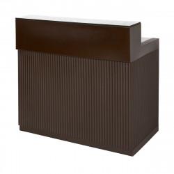 Bar Cordiale marron chocolat, module droit, Slide Design, L120 x P70 x H110 cm