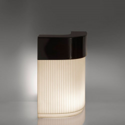 Bar Cordiale Corner lumineux, édition Art Déco, module d\'angle, Slide Design, L70 x P70 x H110 cm