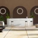 Bar Cordiale Corner blanc, module d'angle, Slide Design, L70 x P70 x H110 cm