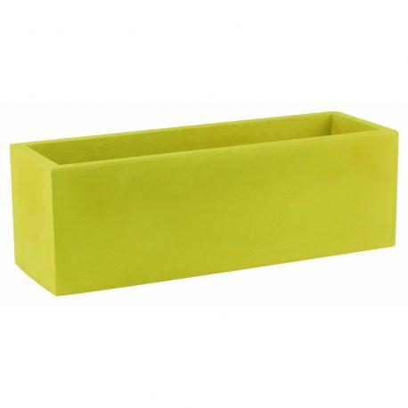 Jardinière rectangulaire 100 cm vert pistache, Jardinera 100, Vondom, simple paroi, Longueur 100x40xH40 cm