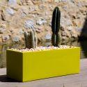 Jardinière design rectangulaire 80 cm gris argent, Jardinera 80, Vondom, simple paroi, Longueur 80x30xH30 cm