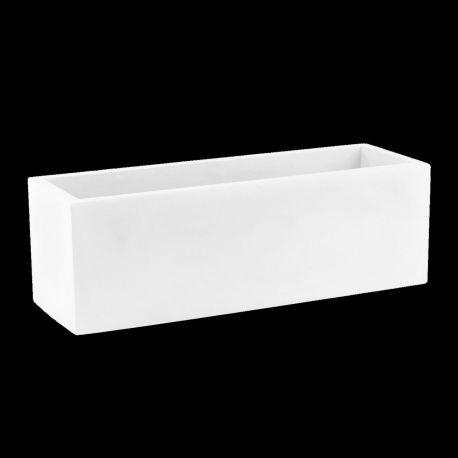 Jardinière lumineuse Leds blancs, Jardinera 100, Vondom, double paroi, Longueur 100x40xH40 cm