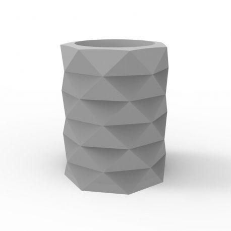 Pot de Jardin Marquis diamètre 80 cm x hauteur 100 cm, Vondom Gris Acier Mat