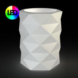 Pot de Jardin Marquis lumineux Leds RGBW diamètre 80 cm x hauteur 100 cm, Vondom