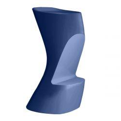 Tabouret de bar Moma High, hauteur d'assise 74 cm, Vondom bleu