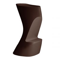 Tabouret de bar Moma High, hauteur d'assise 74 cm, Vondom bronze