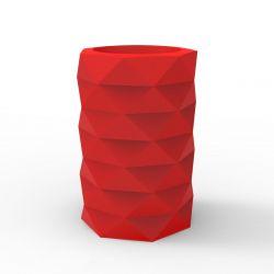 Pot de Jardin Marquis diamètre 40 cm x hauteur 60 cm, Vondom rouge Mat