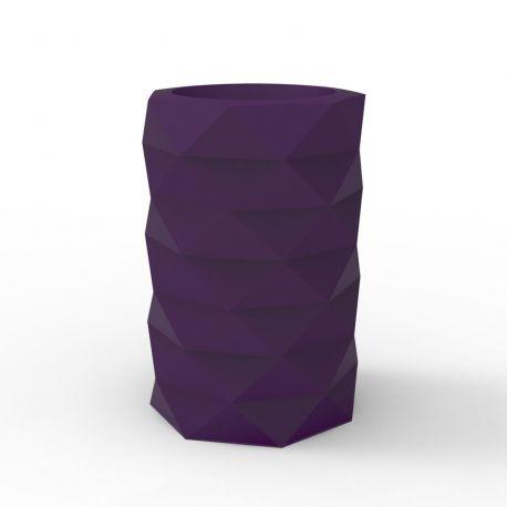 Pot de Jardin Marquis diamètre 40 cm x hauteur 60 cm, Vondom violet prune Mat