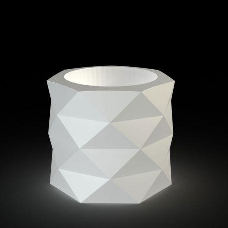 Pot de Jardin Marquis lumineux Leds blancs diamètre 60 cm x hauteur 50 cm, Vondom