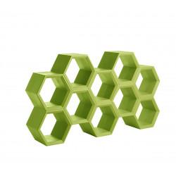 Etagère alvéoles nid d\'abeilles Hexa, citron vert