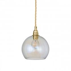 Suspension Rowan Nacré Caméléon, diamètre 15,5 cm, Ebb & Flow, douille et câble dorés