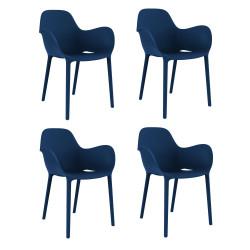 Set de 4 chaises Sabinas, Vondom bleu marine