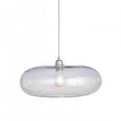 Luminaire verre soufflé Horizon Nacré Caméléon, diamètre 45 cm, Ebb & Flow, douille et câble argentés