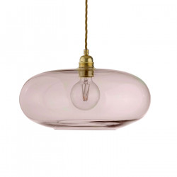 Luminaire suspension verre soufflé Horizon Corail, diamètre 36 cm, Ebb & Flow, douille et câble dorés