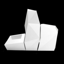 Lot de 3 pots diamants Faz Lumineux Leds blancs, Vondom, Taille L