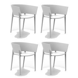 Set de 4 fauteuils Africa, Vondom blanc