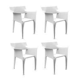 Lot de 4 chaises Pedrera, Vondom blanc
