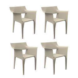 Lot de 4 chaises Pedrera, Vondom écru
