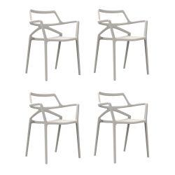 Lot de 4 chaises Delta, Vondom blanc