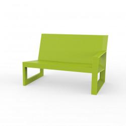 Module gauche pour salon de jardin design Frame, Vondom pistache avec coussins en tissu Silvertex