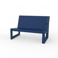 Module gauche pour salon de jardin design Frame, Vondom navy avec coussins en tissu Silvertex