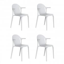 Lot de 4 fauteuils Brooklyn, Vondom blanc