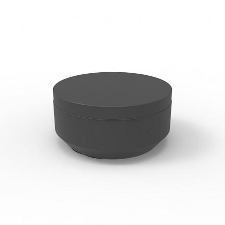 Pouf rond Vela Chill diamètre 80cm, Vondom anthracite