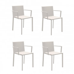 Lot de 4 fauteuils Quartz, Vondom Ecru