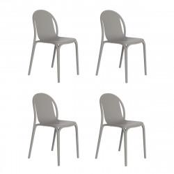 Lot de 4 chaises Brooklyn, Vondom Gris tourterelle