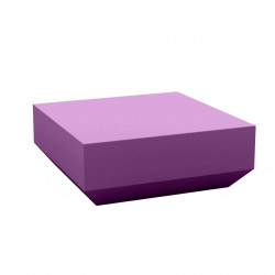 Table basse design carrée Vela Chill 80, Vondom prune