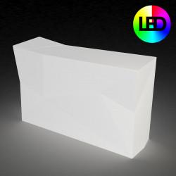 Bar central avec seau à glace Faz, Vondom blanc Lumineux LED RGBW, alimentation par câble