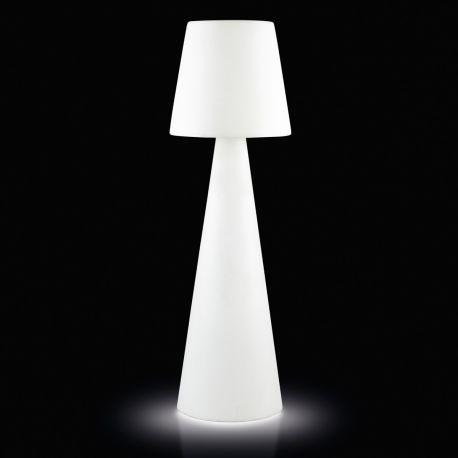 Lampadaire Pivot Outdoor, hauteur 2,1 m, Slide Design, blanc