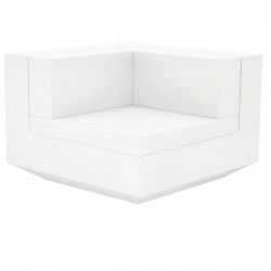 Module d'angle canapé Vela, Vondom, 100x100xH72cm blanc