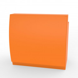 Bar design Fiesta 120, module droit 120x80xH115cm avec plan de travail, Vondom Orange