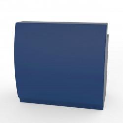 Bar design Fiesta 120, module droit 120x80xH115cm avec plan de travail, Vondom Bleu Marine